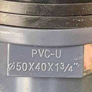 """Pvc-u doorvoerklem 40/50 x 1 3/4"""""""